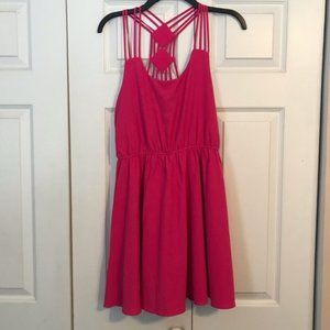 EVERLEIGH Anthropologie Small Pink Strappy Dress